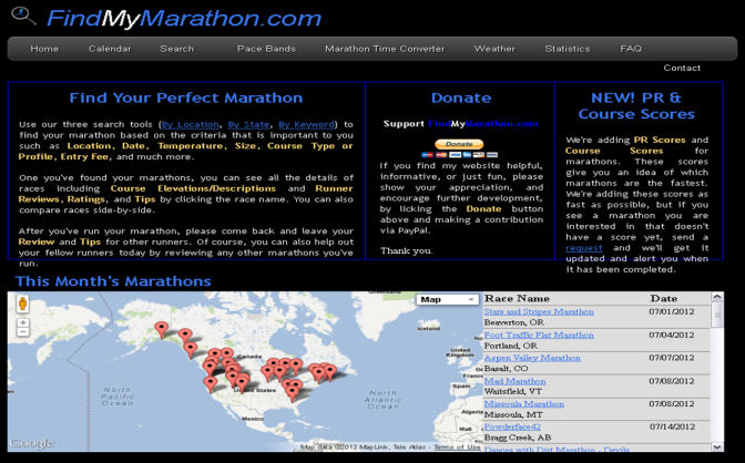 Site Review – FindMyMarathon.com