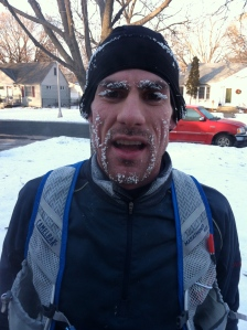 Post 20 miler in zero degrees