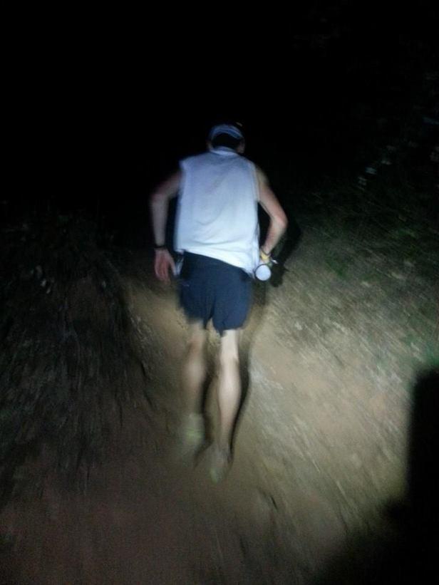 Burning up the last bit of trail. Photo courtesy of Joe Uhan.