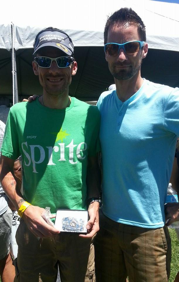 Joe + Sprite = Silver Buckle.  Photo courtesy of Joe Uhan
